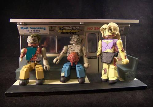 Zombie Minimates on the Subway
