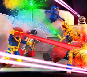 X-Men Minimates in the Danger Room by luke314pi