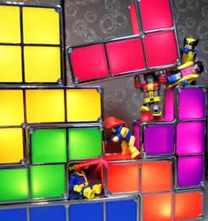 Tetris vs X-Men Minimates by luke314pi