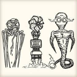 Sketching Some Aliens by luke314pi