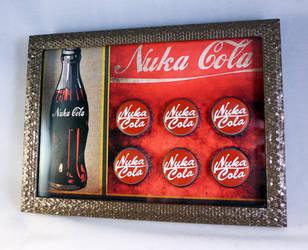 Nuka Cola Bottle Cap Display by luke314pi