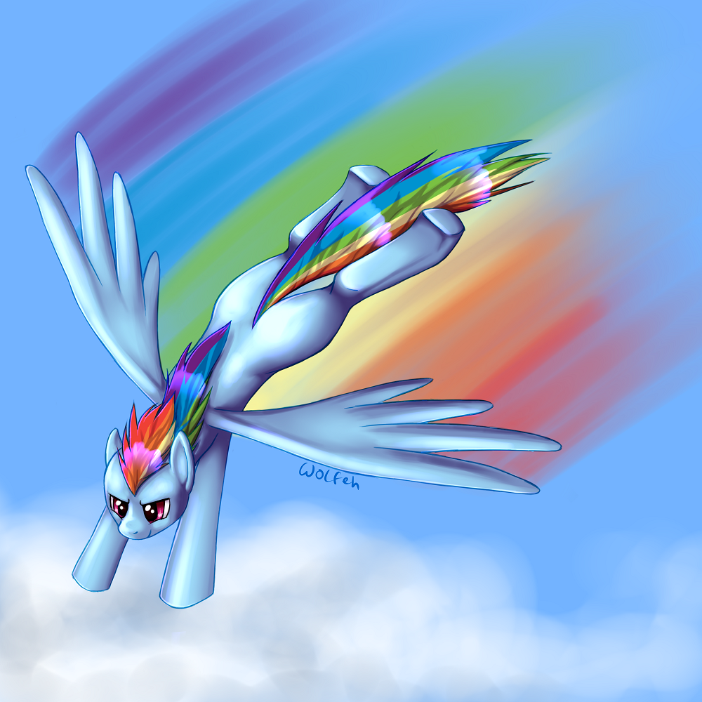 Cloud dive by TwitchyGears