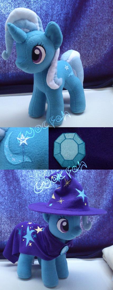 Trixie plushie by rarewhitewolf