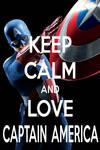 KEEP CALM AND LOVE CAPTAIN AMERICA