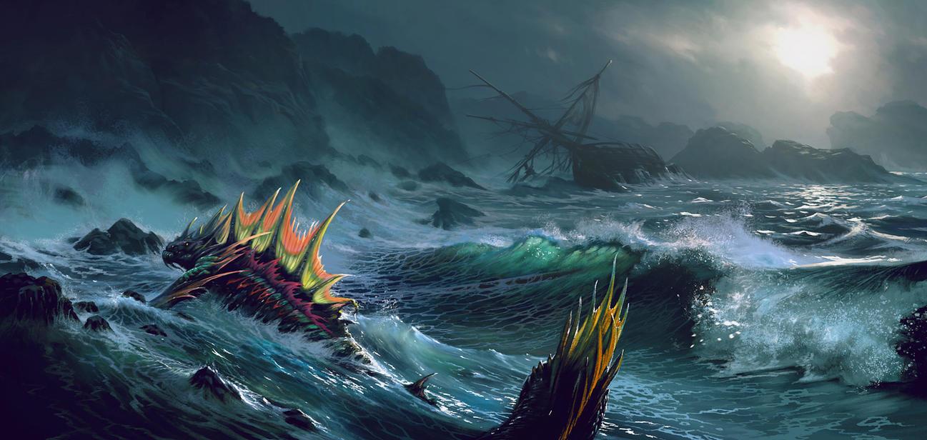 Naga - Sea serpent (WoW) by Sergey82M