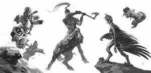 Character sketches based on Warcraft