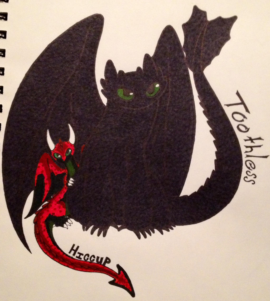 Toothless and Hiccup baby dragon form by RellikZRue on DeviantArt