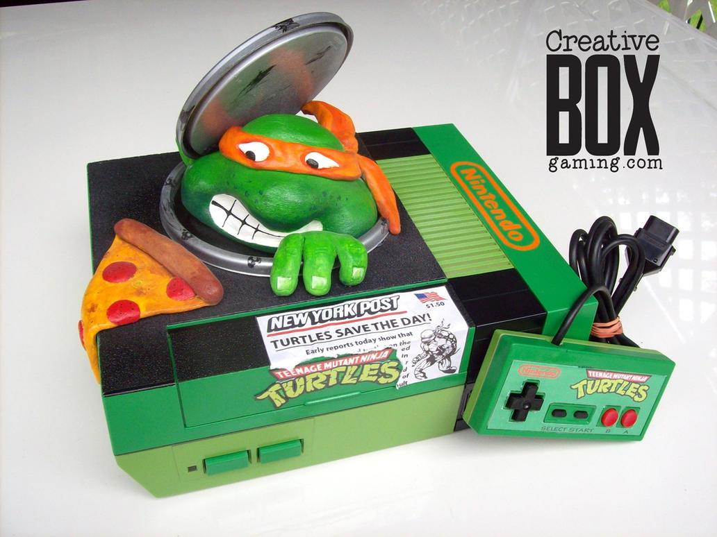 teenage mutant ninja turtles custom nes by