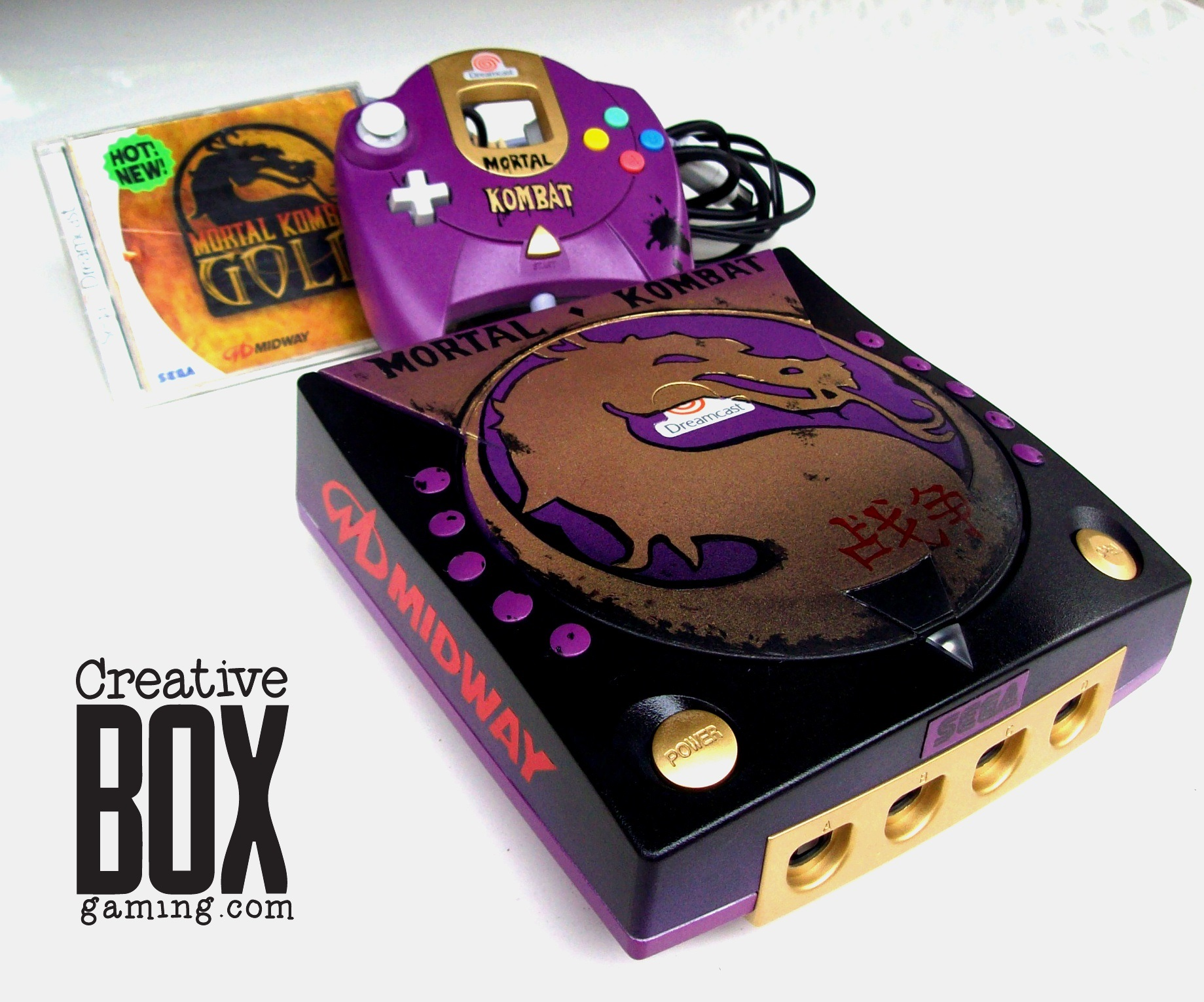 Mortal Kombat Custom Dreamcast Console by CreativeBoxGaming Mortal Kombat Custom Dreamcast Console by CreativeBoxGaming