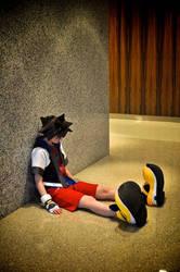 Sora you lazy bum... by xHee-Heex
