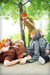 LOST BOYS, FAAALL... alseep by xHee-Heex