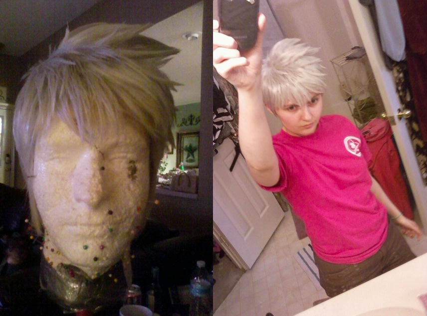 Jack Frost wig progress by xHee-Heex