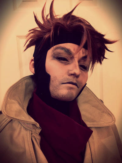 Gambit Wig/ Makeup Test 2 by xHee-Heex