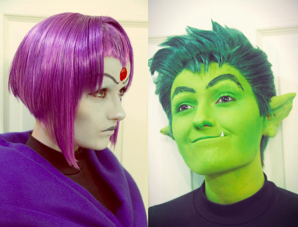 Teen Titans Makeup and Wig Test by xHee-Heex