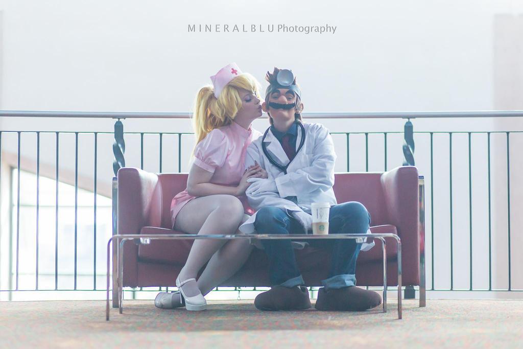 Dr. Mario and Nurse Peach