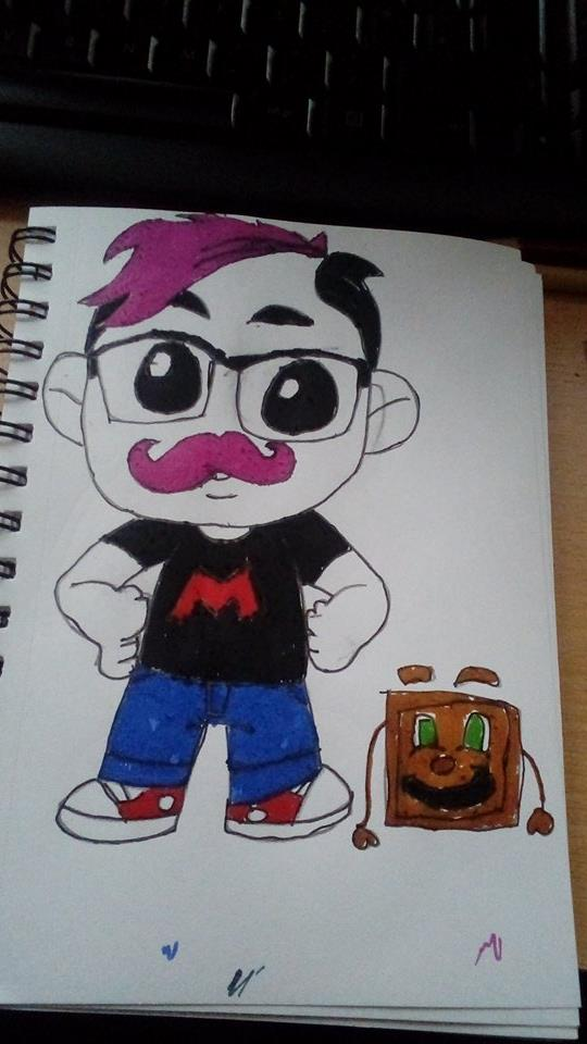 My Chibi MARKIPLIER WITH TINY BOX TIME by Darthmagnus77