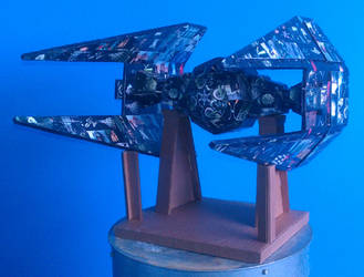 cardboard forge: star wars tie interceptor by lewislain