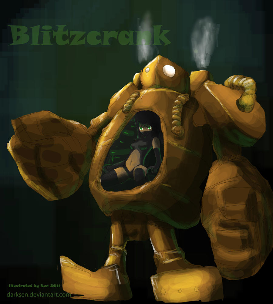 Blitzcrank the Steam Golem by darksen