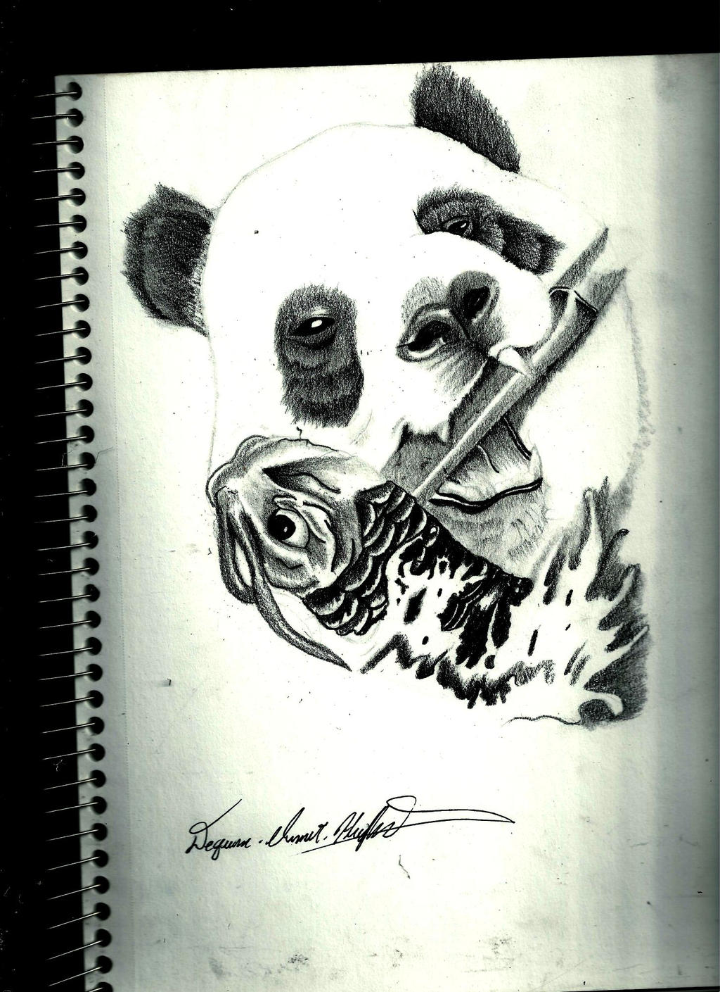 panda bear by Quan-Art