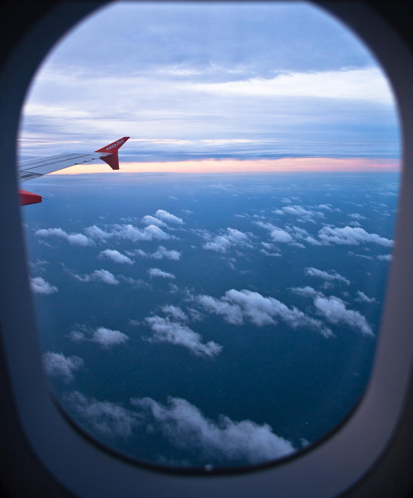 Through An Airplane Window By Freye