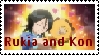 Rukia and Kon stamp by AnimeQueen123