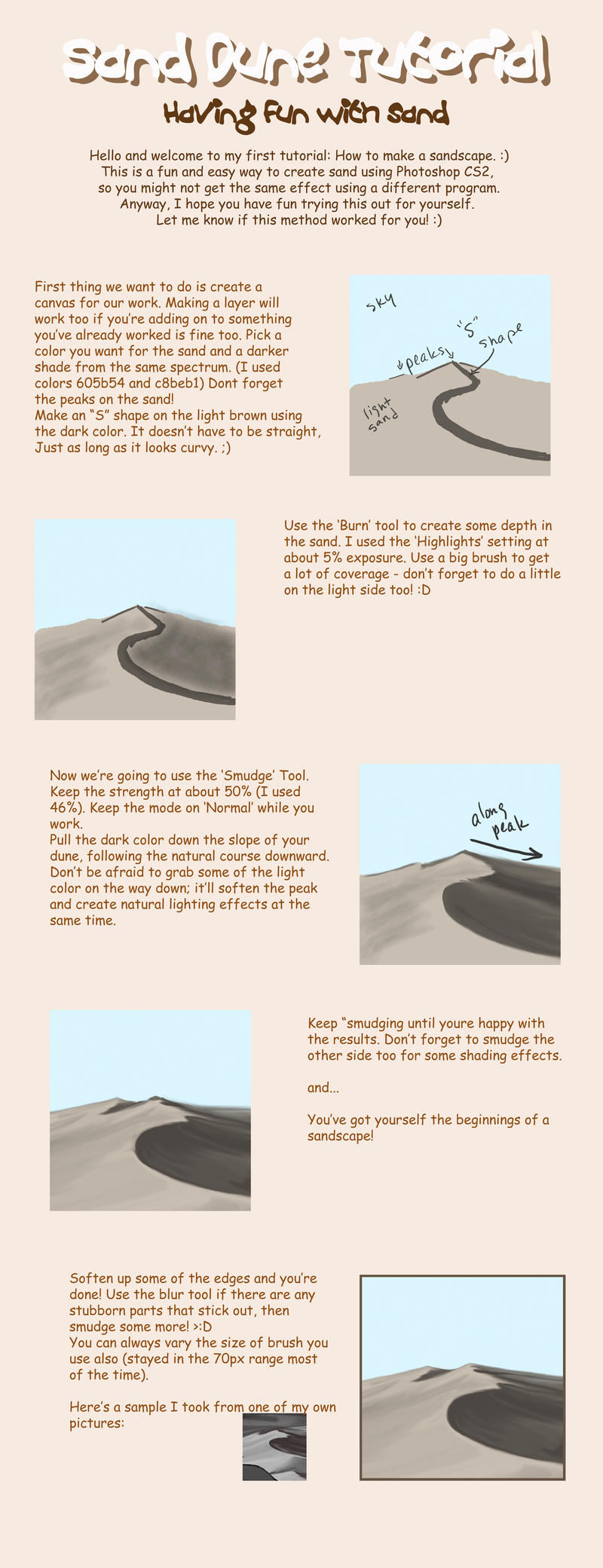 how to draw with sand