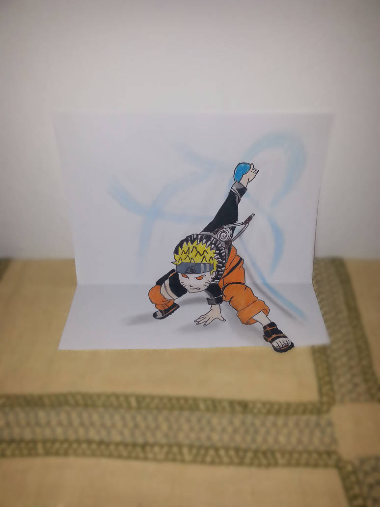 3d naruto drawing by rynmechergui