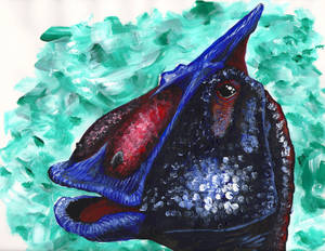 The Face of Saurolophus