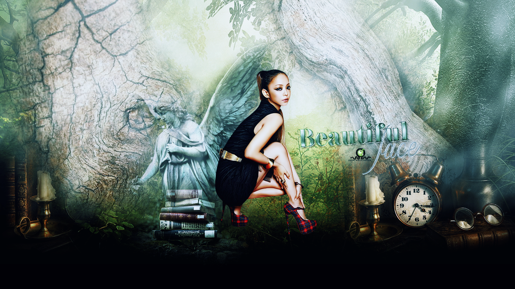 Wallpaper Namie Amuro - Beautiful Face by adoring-kstew