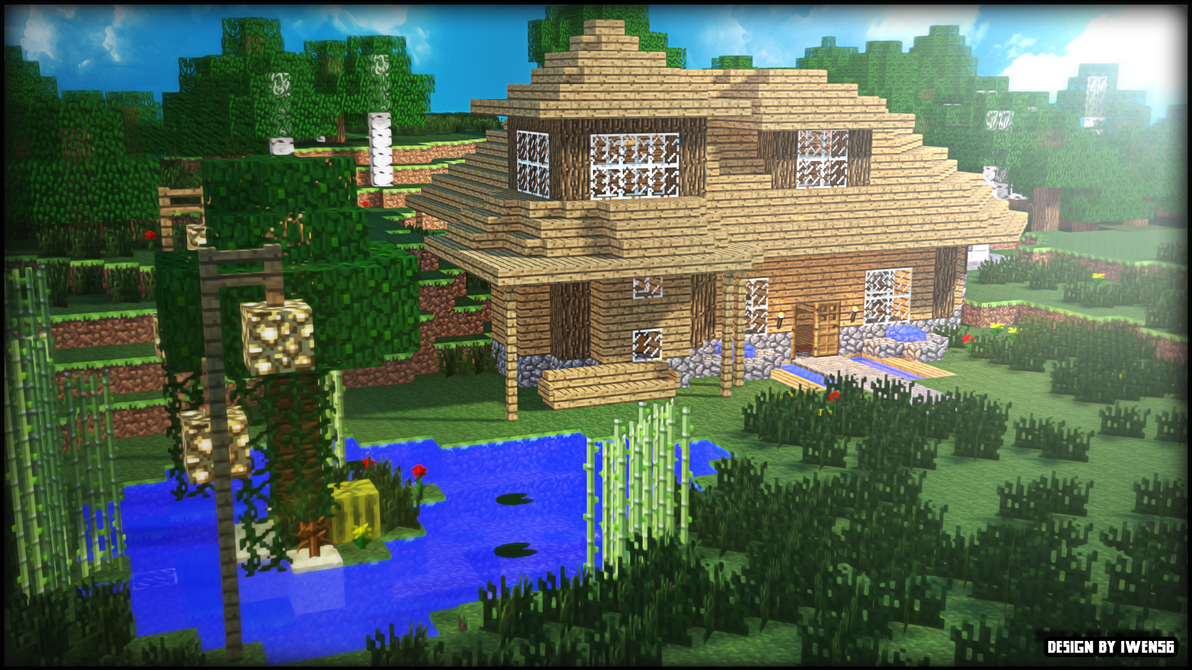 maison-minecraft by iwen56 on DeviantArt