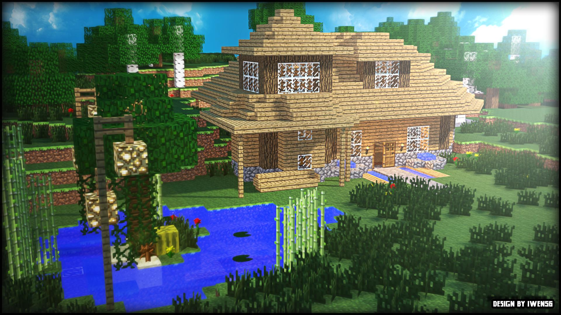 Maison Minecraft By Iwen56 On Deviantart