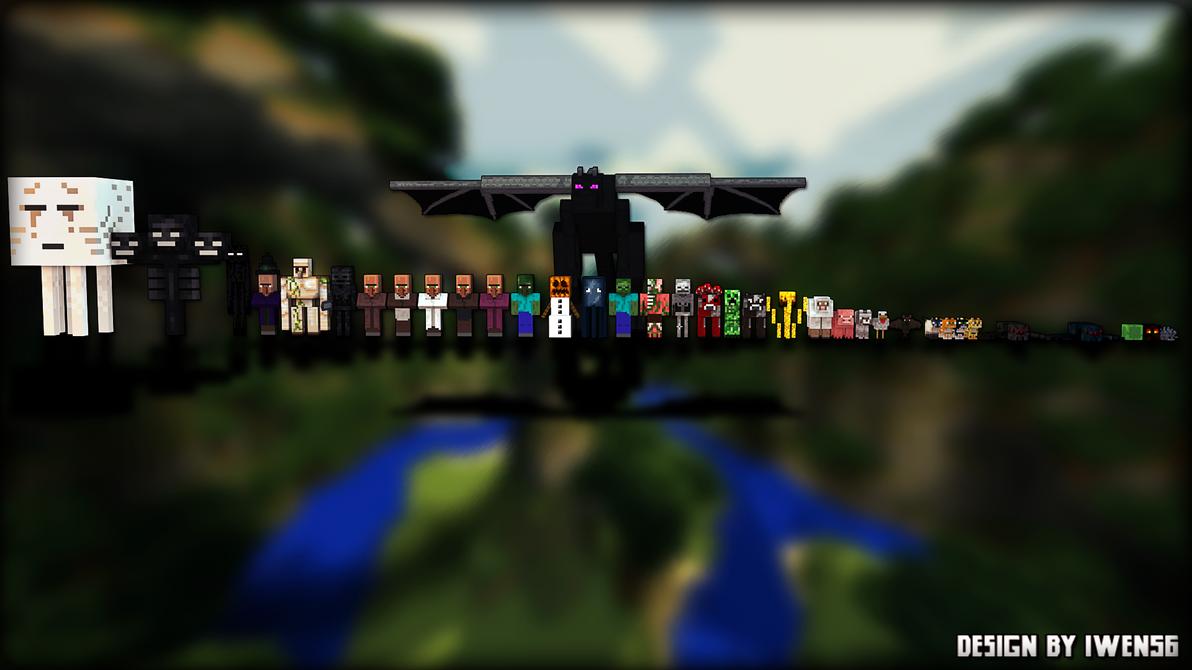 Wallpaper mob minecraft by iwen56 on DeviantArt