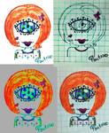 Cyclope orange girl by GabyCoutino