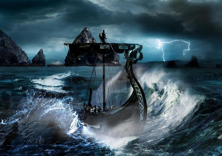 Viking storm by KenHuys on DeviantArtViking Ship Storm