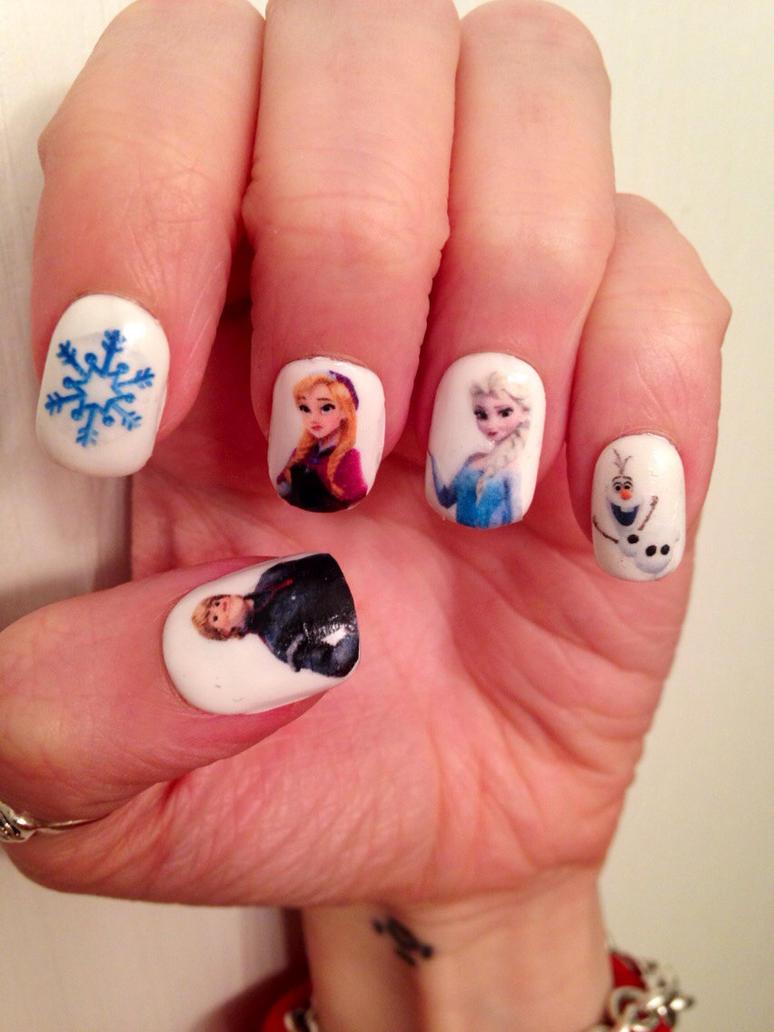 Frozen nail art! by finchmeetsfoxface on DeviantArt