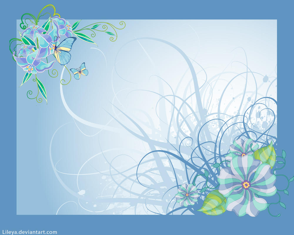 Vector flower wallpaper by lileya on deviantart for Where can i purchase wallpaper