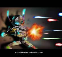 Under fire by Mattex01