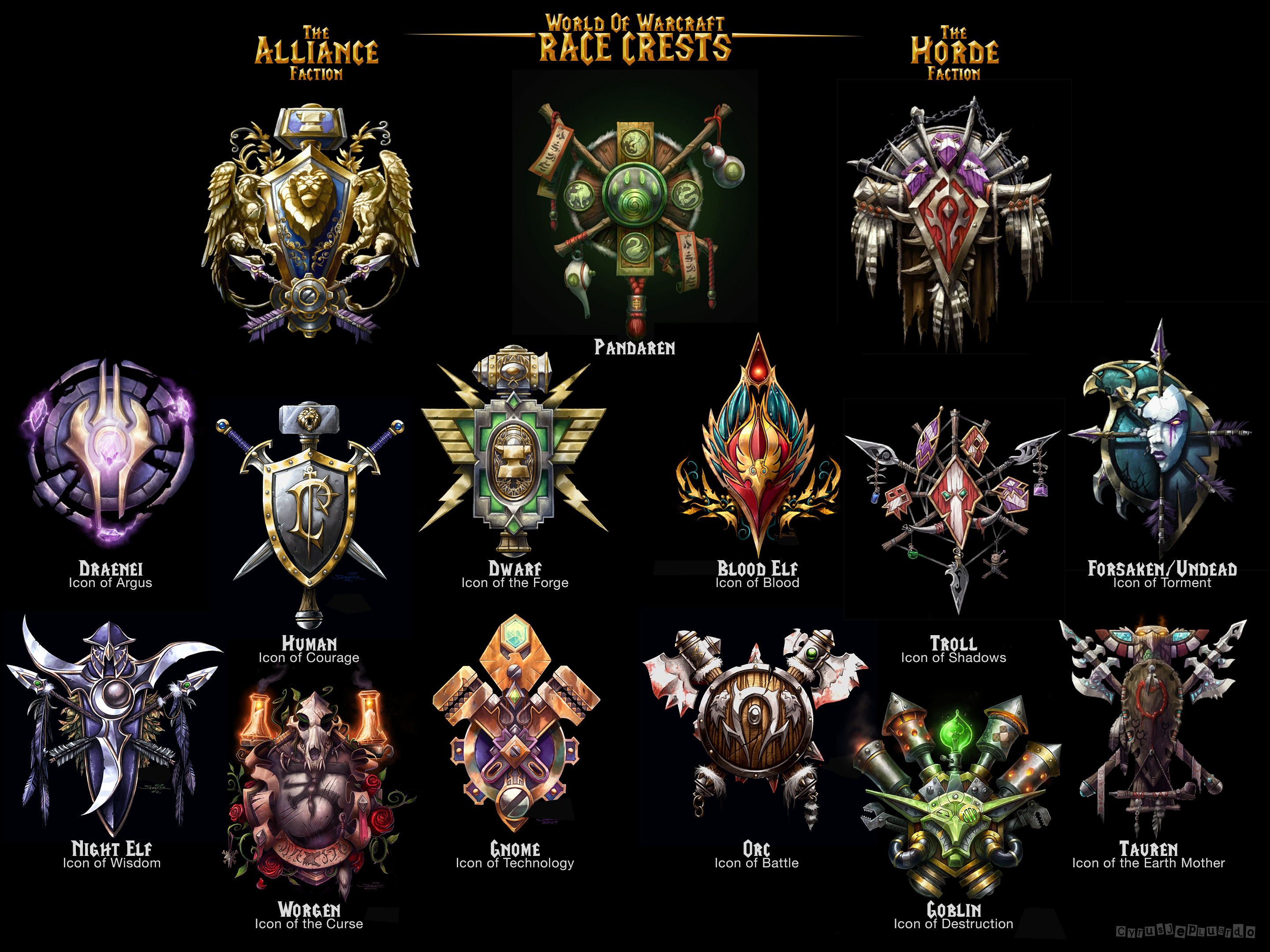 World Of Warcraft Icons by 1j9e8p7