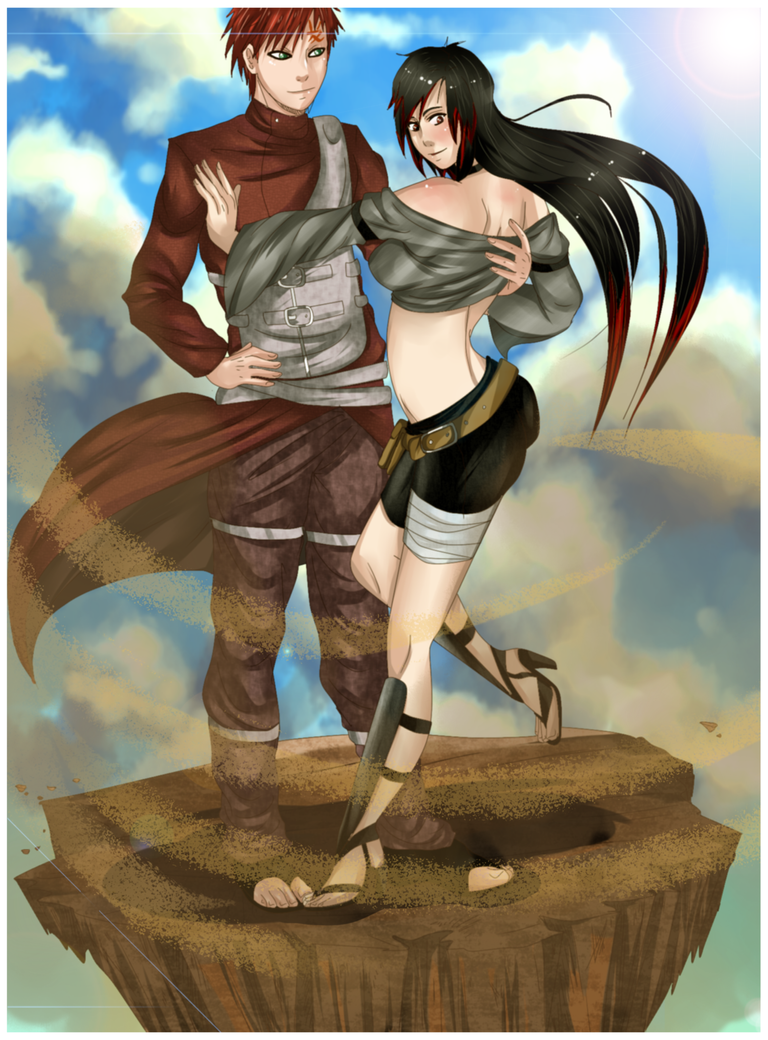 Paypal Commission :Shadow And Gaara: by NammyLank