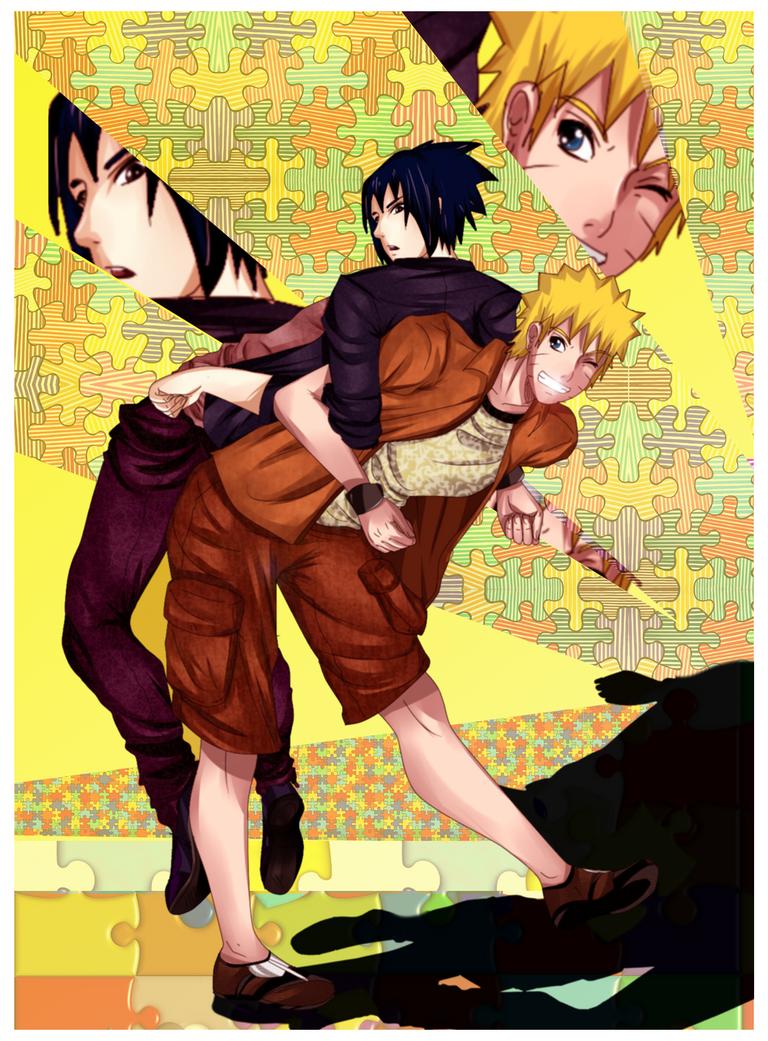 Life In Puzzle :Sasuke And Naruto: by NammyLank
