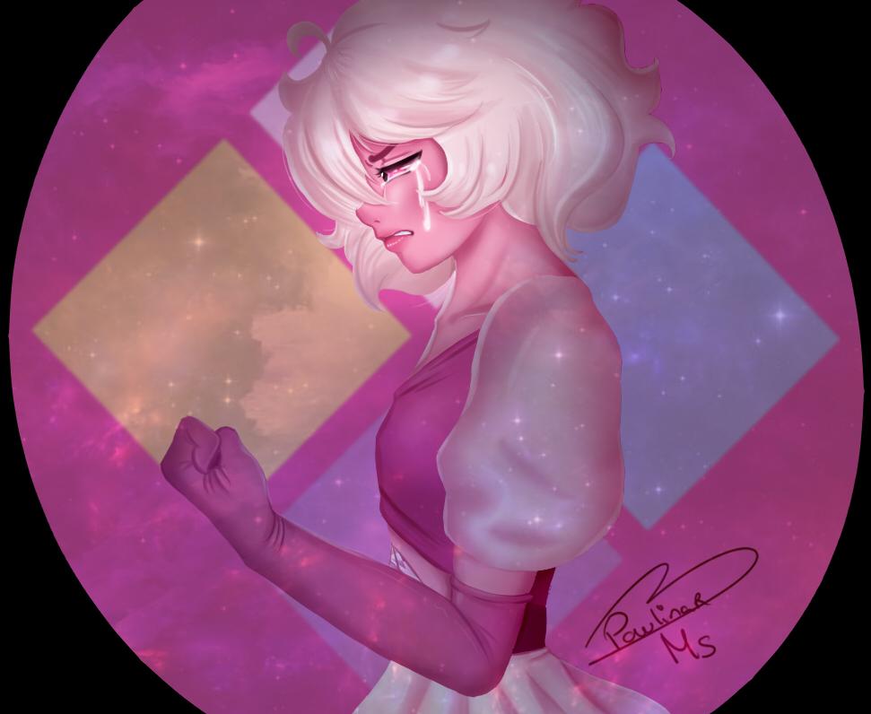 At last I could finish this Drawing Of pink Diamond !!! <3 I hope you like it :'3 ----------------------------- Al fin pude terminar este dibujo De pink Diamond!!! <3 Espero les guste :'3