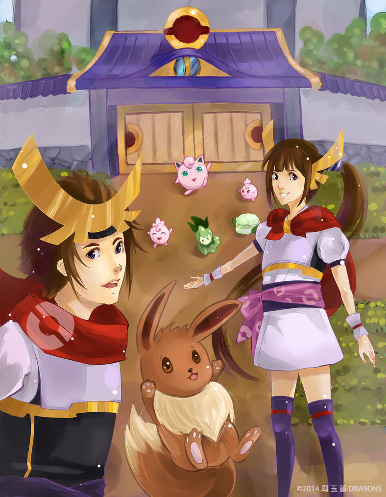 pin pokemon conquest yukimura and heroine wallpapers on
