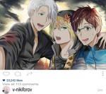 Yuri on Ice (Yuri, Victor and Yurio) - Fanart