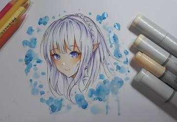Emilia - fanart traditional