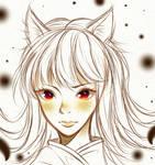 Anime fox girl sketch