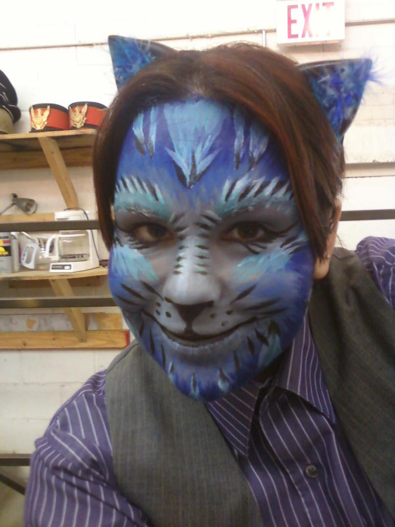 Halloween Facepaint - Cheshire Cat by EmoMadaraUchiha