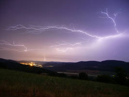 Lightning over the highlands by johny7cz