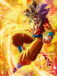 Goku SSJ4 DRAGON FIST