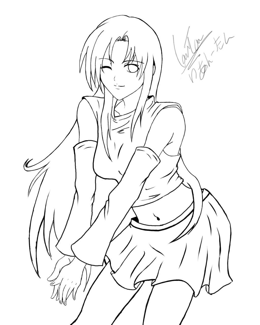 Line Drawing Girl : Baby anime girl drawing pixshark images