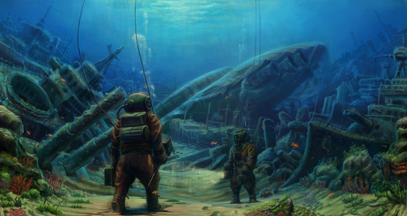 Deep sea diver.